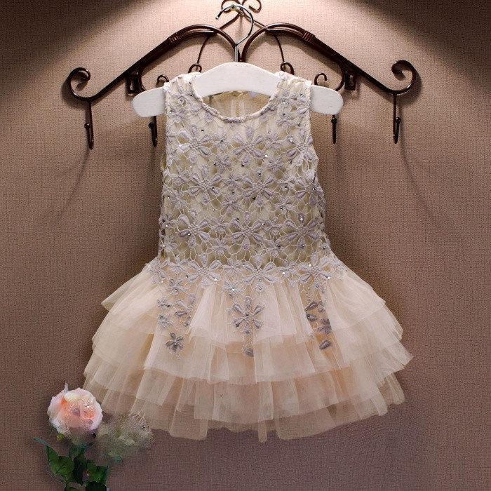 Princess Childrens Formal Dress Flower Girls Wedding Outfit