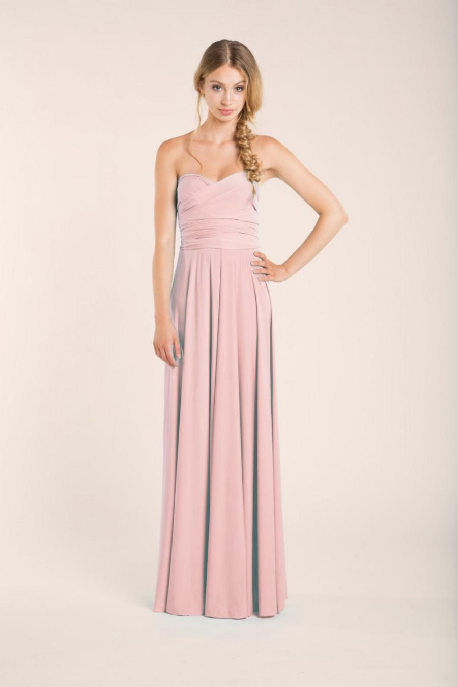 Rose quartz infinity dress long rose quartz bridesmaids for Rose pink wedding dress