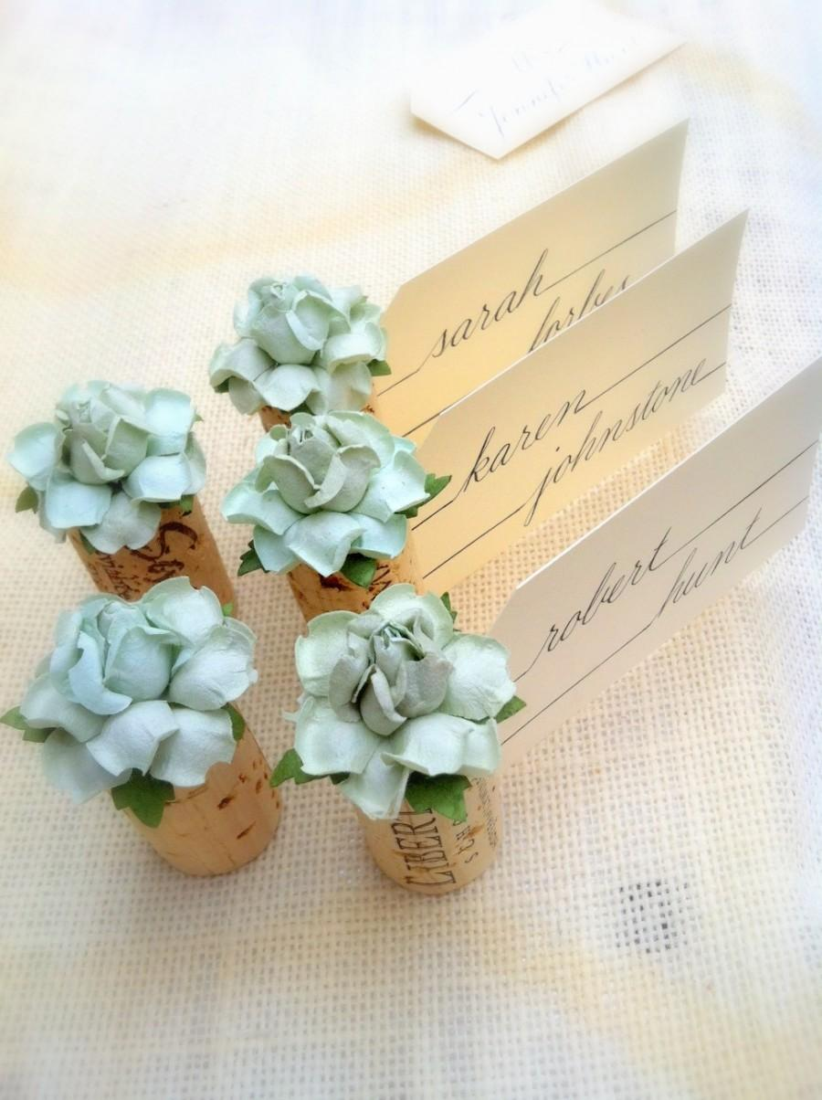 succulent place card holder u0026 blank place cards for wedding mint wedding decor mint wedding place card holders succulent theme table