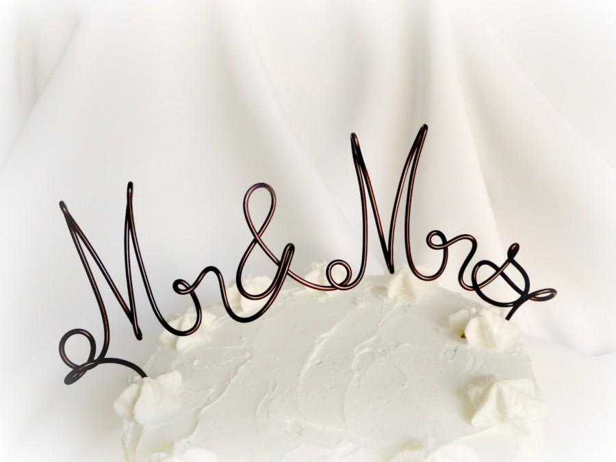 Свадьба - Rustic Mr & Mrs Cake Topper, 6 Inches