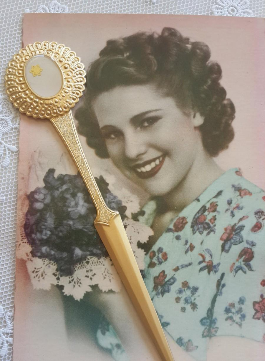 Свадьба - Vintage Letter Opener - Flower Letter Opener - Letter Knife - Bridesmaids Gift - Wedding Gift - New Office Gift