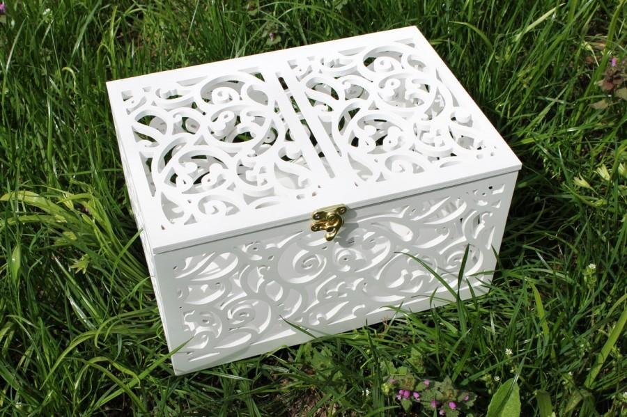 Düğün - Wedding Card Box-Wedding Gift-Plywood Wedding-Love Story Keepsake Box-Wedding money box-Wedding card money holder-White Gift Card Holder