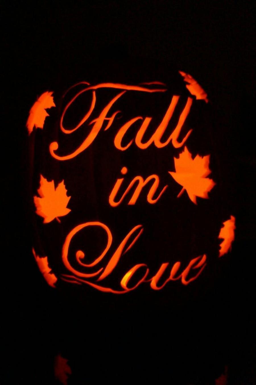 """Hochzeit - 12"""" """"Fall in Love"""" Wedding Pumpkin"""