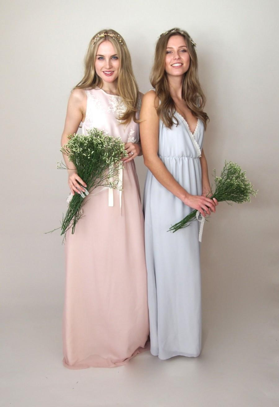 5ff8232addda ATHENA - cross over chiffon bridesmaid dress, country wedding, vintage style,  bohemian bridesmaid, grecian maxi dress - petite/tall bespoke
