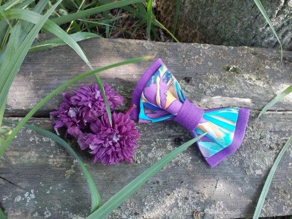 Hochzeit - Floral bow tie Violet bow tie for wedding Purple ties for men Violetto farfallino per il matrimonio Violet noeud papillon pour le mariage