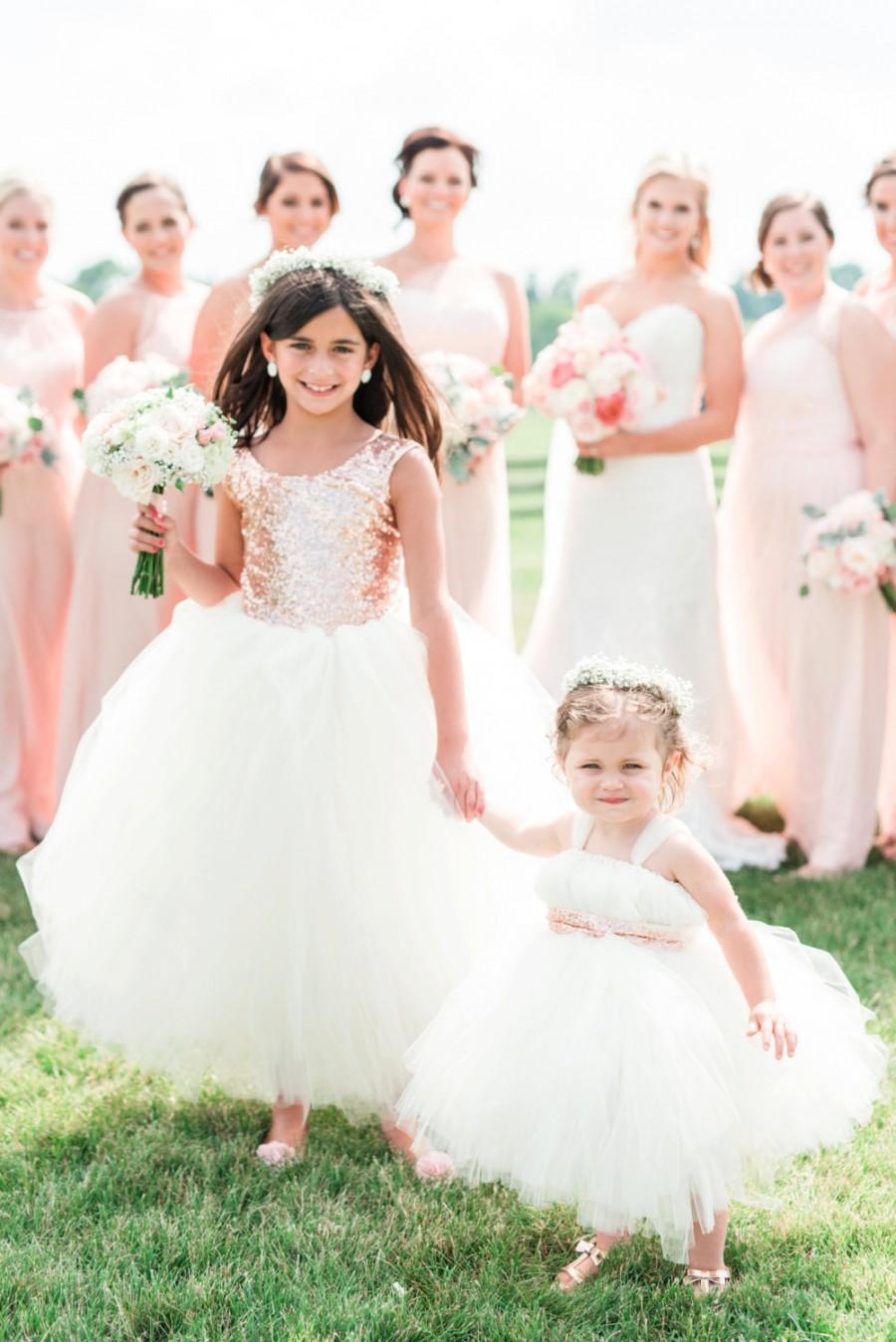 Hochzeit - NEW! The Juliet Dress in Blush and Ivory - Flower Girl Dress