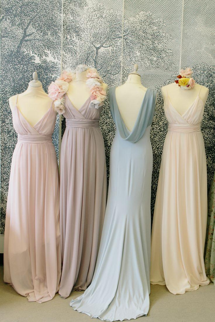 Wedding - Maids To Measure And Ciaté London: Pastel Pretty Bridesmaids Dresses And Matching Nail Varnish