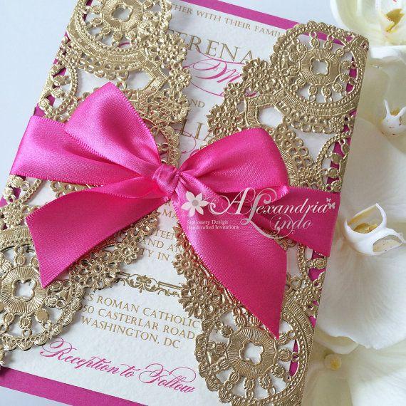 Wedding Theme Hot Pink Fuschia Invitation 2537890 Weddbook