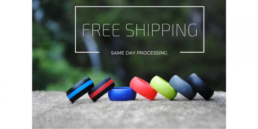 Свадьба - Men's Silicone Wedding Ring by Fit Ring ™ (Black, Blue, Red, Gray, Green, white, line) *** Best Silicone Band On The Market Guaranteed  ***