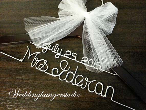Wedding Gift Opening : ... Hanger,Personalized Hanger, Bridesmaid, Bride Gift, Bridal Party gift
