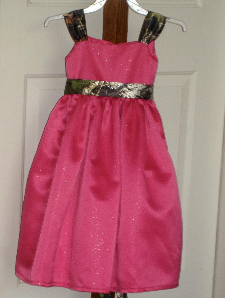 زفاف - Camo Flower Girl Dress Made To Order