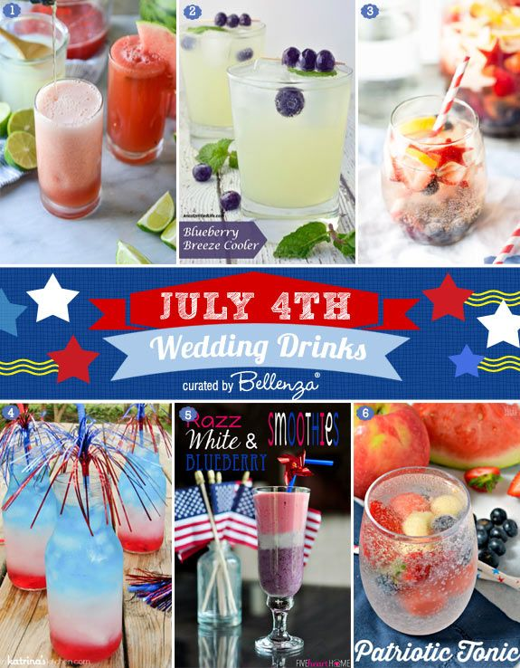 Wedding - HOW-TO: Set Up A 4th Of July-themed Beverage Station At Your Wedding