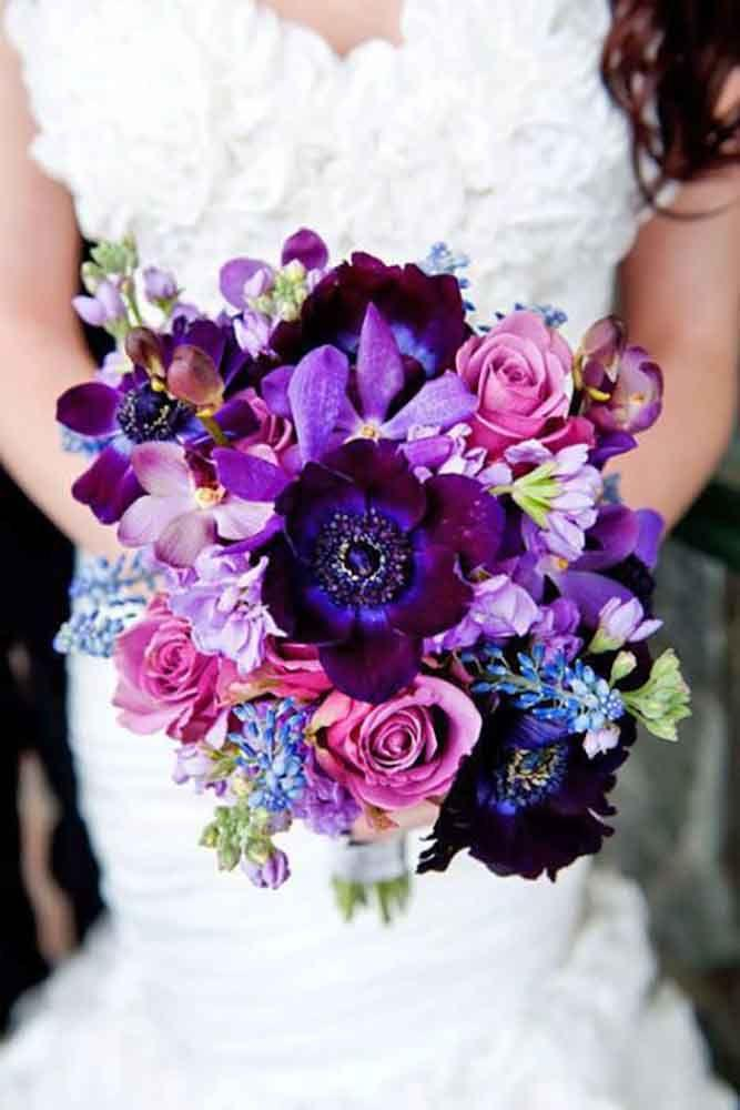 Wedding Theme - 30 Purple & Blue Wedding Bouquets #2538074 - Weddbook