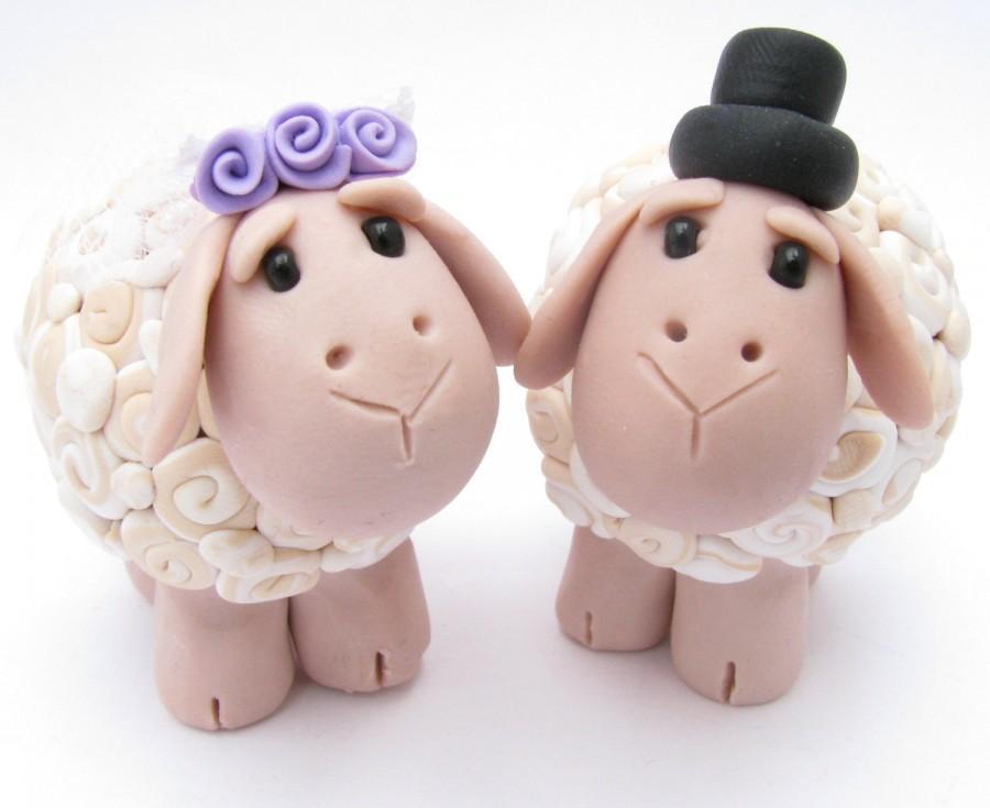 Mariage - sheep love, wedding cake topper
