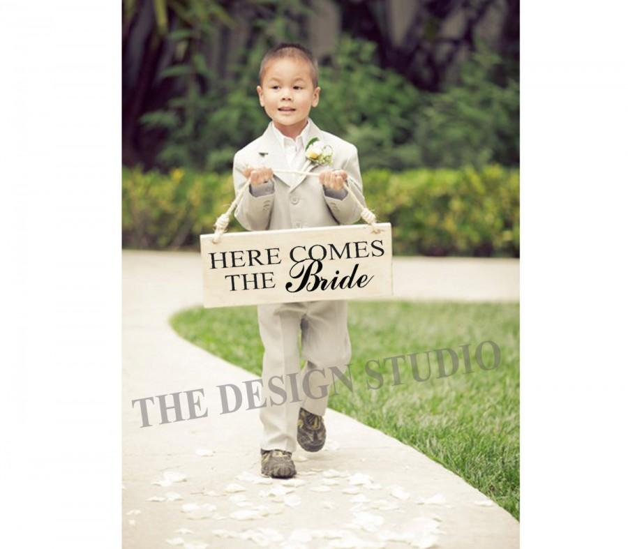 ring bearer sign decal wedding accessories here comes