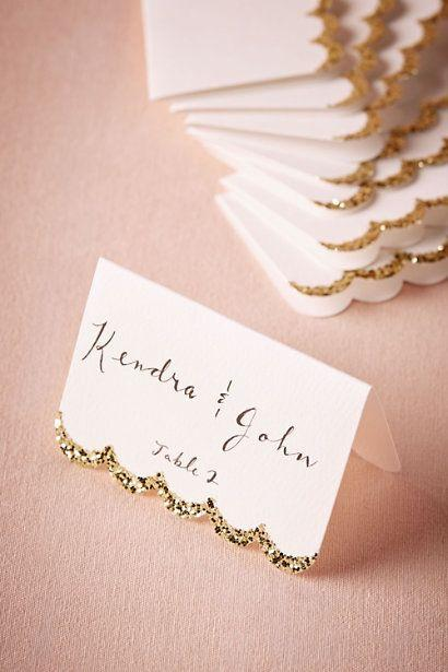 Mariage - Glitter-Dipped Place Cards (10)