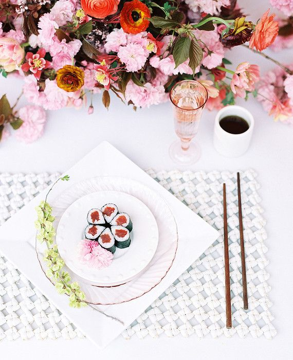Hochzeit - Modern Asian Inspired Spring Wedding Ideas