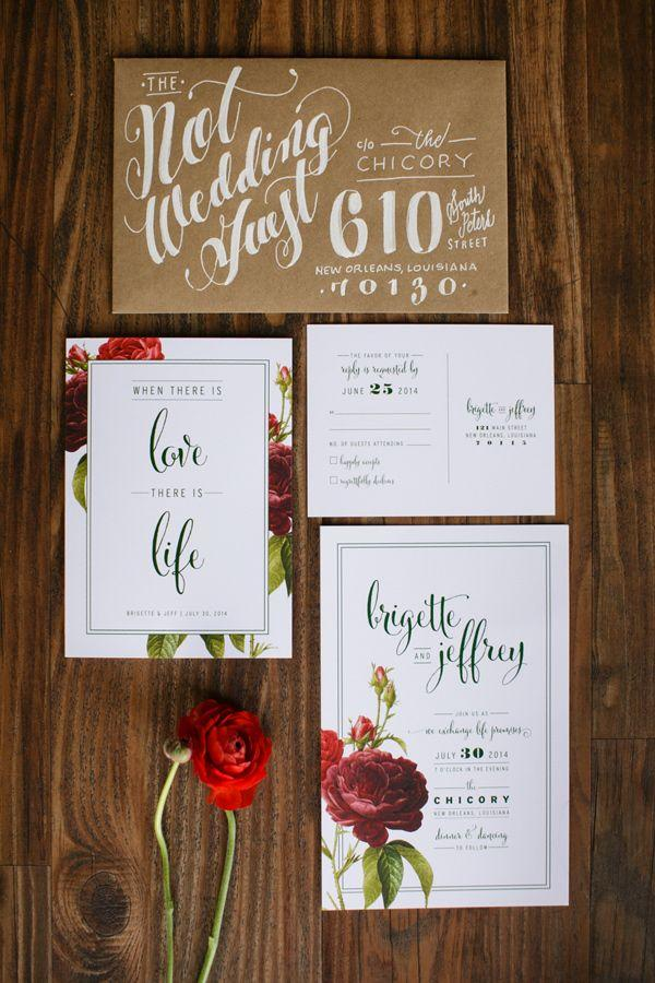 Свадьба - Floral Invites