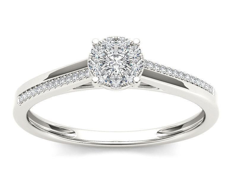Mariage - 10Kt White Gold Diamond Engagement 0.15 Ct Ring