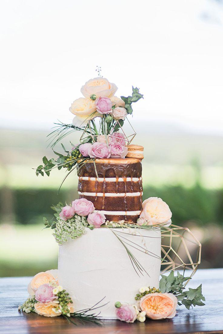 Mariage - Romantic Rustic Naked Cake