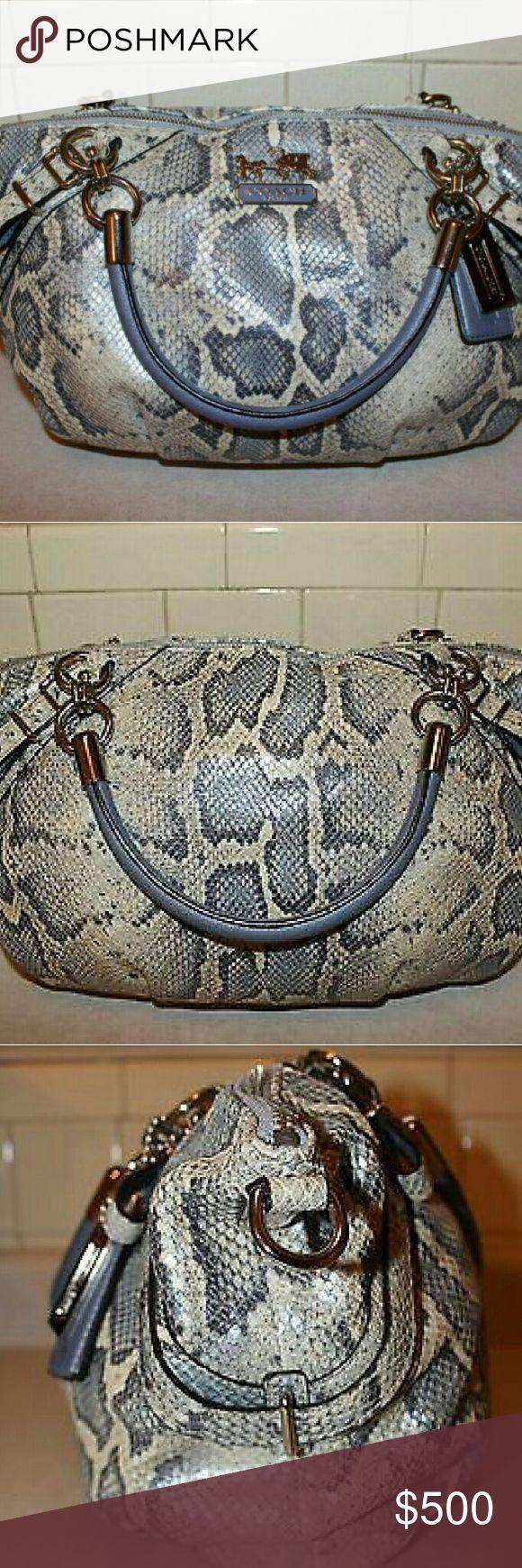 Wedding - Coach Python Embossed Leather Satchel