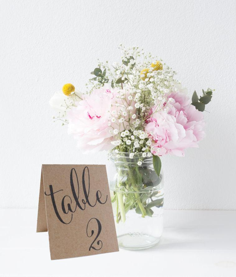 Свадьба - Tented Wedding Table Number Signs, Double Sided Table Cards, Tented Table Decor