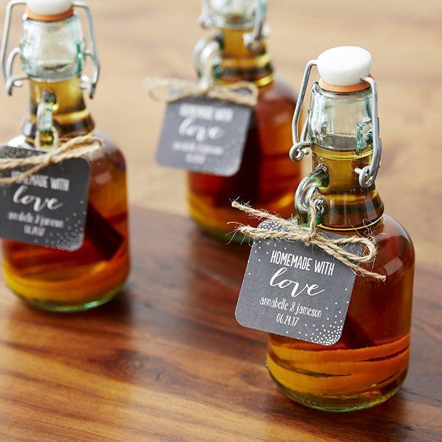 Mariage - DIY Whiskey Bottle Favors