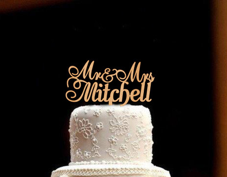 Mariage - Personalized Wedding Cake Topper Custom Wedding Cake Topper Rustic Wedding Topper Wood Wedding Cake Topper  Mr and Mrs Cake Topper Wedding