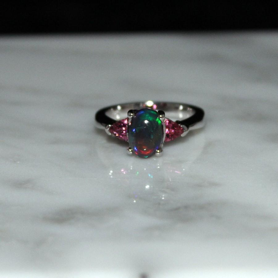 black opal rings engagement ring auctions size sh k