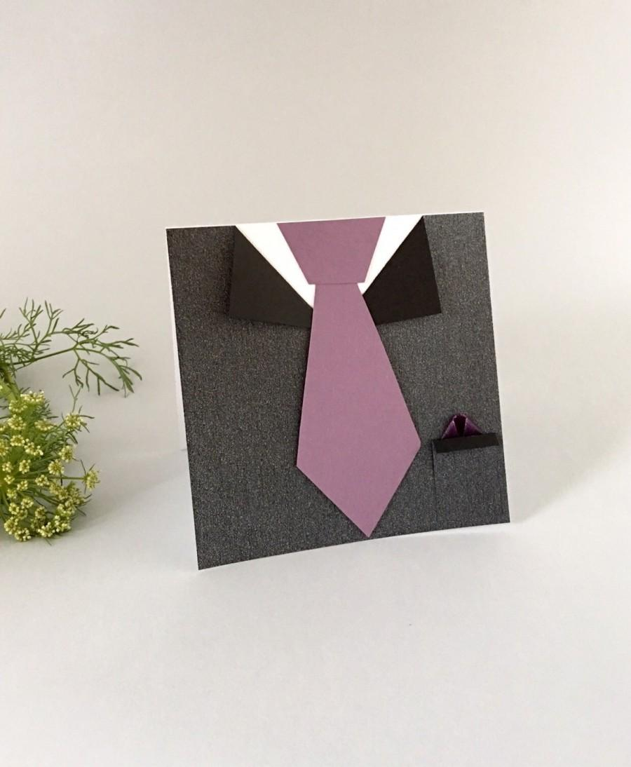 Mariage - Groomsmen Card- Best Man Wedding Invitation - Pearl Black Mens Suit and Tie Card - Will you be my Groomsman - Fathers Day