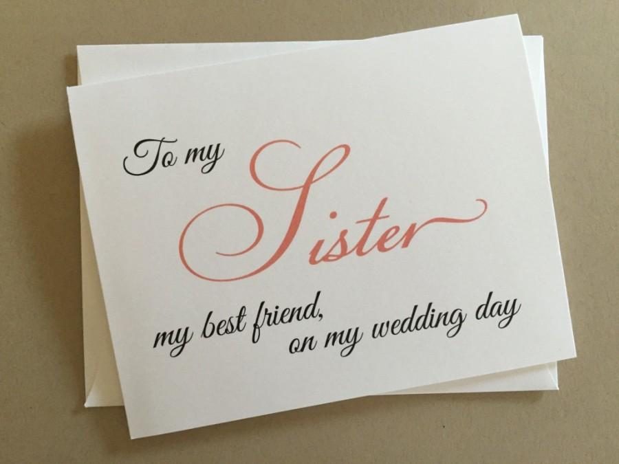 Mariage - To my Sister my best friend,on my Wedding Day Card,Wedding Day Printed Card, A2 Wedding Day Card(WDC-F10)