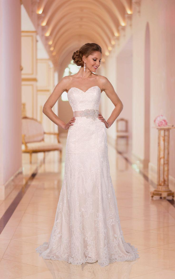 Mariage - Floor-Length Lace Beaded Waist Charming With Bow Wedding Dress