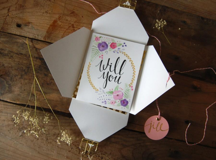 Mariage - Will You Be My Maid of Honor? Card // Cute Maid of Honor proposal card // Personalized Maid of Honor card