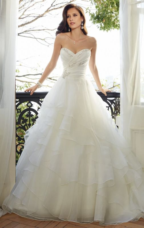 Mariage - New White Ivory Bridal Gown Wedding Dress Custom Size 6 8 10 12 14 16