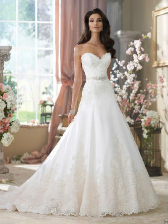 Wedding - New White/Ivory Lace Bridal Gown Wedding Dress Custom Size 4 6 8 10 12 14 16 18+