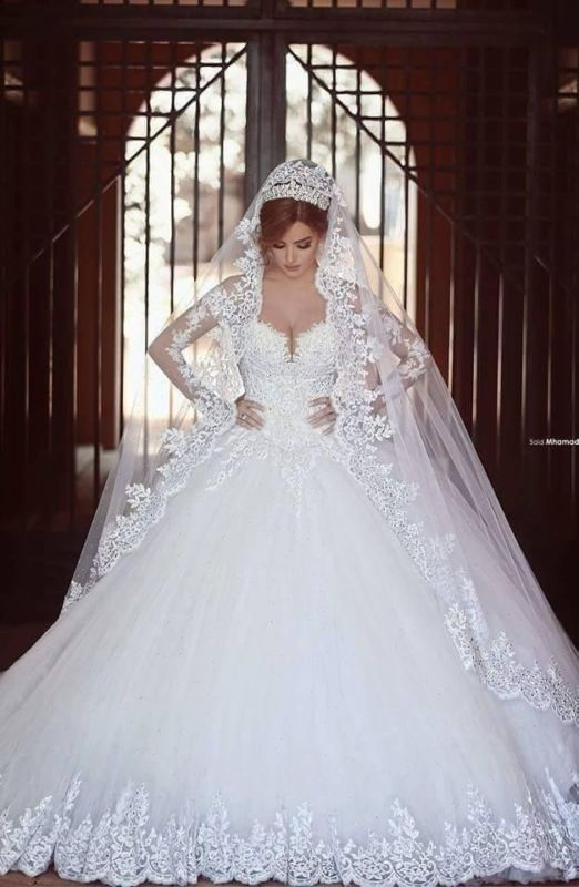 Wedding - 2016 New White/Ivory Lace Wedding Dress Bridal Gown Custom Size 6-8-10-14-16-18+