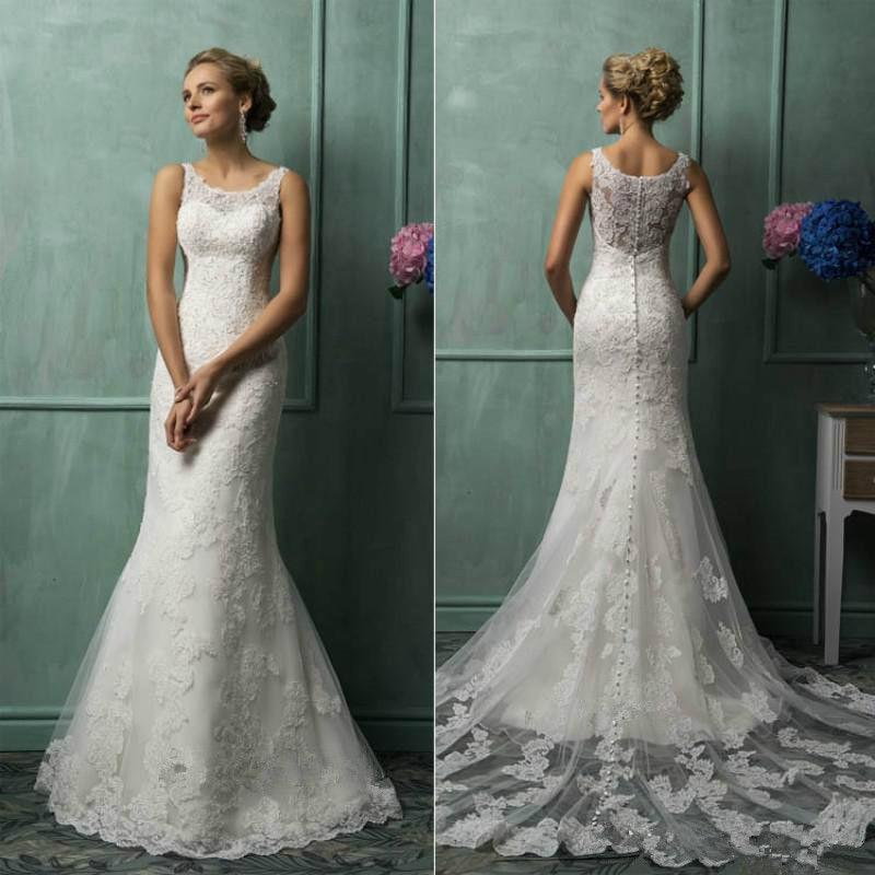 Свадьба - New White/Ivory Lace Bridal Gown Wedding Dress Custom Size 4 6 8 10 12 14 16 18+