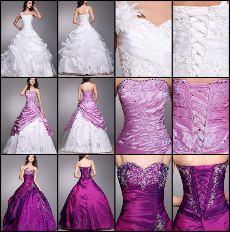Свадьба - New White Wedding dress Bridal Gown custom size 6-8-10-12-14-16