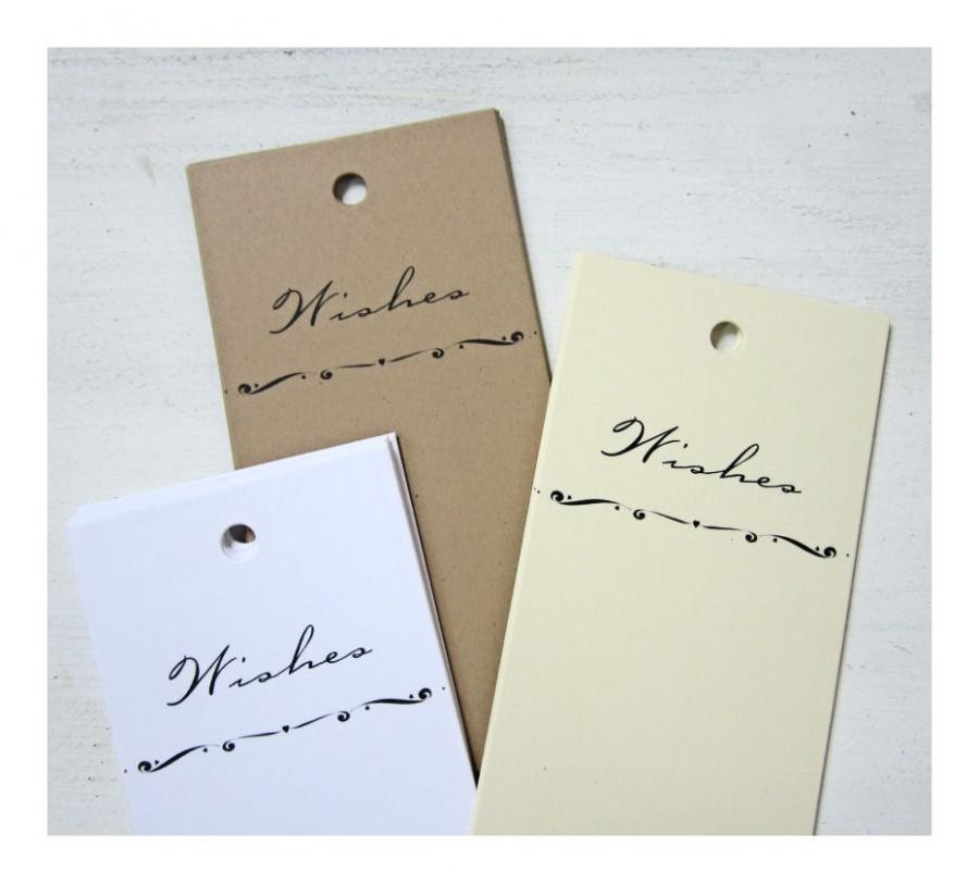 50 Wedding Wish Tree Tags Wedding Wish Tags Wishing Tags Advice