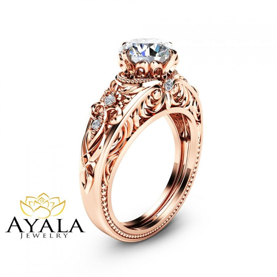 Rose Gold Vintage Engagement Rings Ringscladdagh