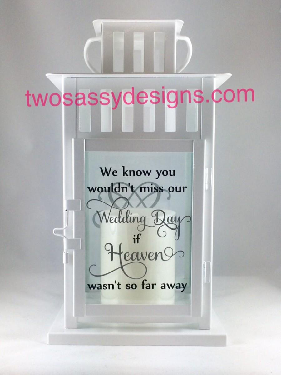 Memory Lantern Wedding Lantern Memory Table Wedding Candle Holder In Loving Memory Wedding Memorial Lantern Memory Table Centerpiece 2539004 Weddbook