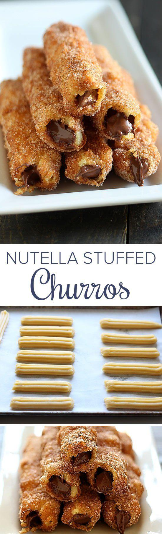 Mariage - Nutella Stuffed Churros