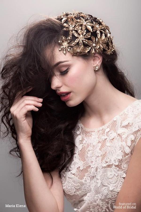 Hochzeit - Maria Elena Spring 2016 Bridal Headpieces