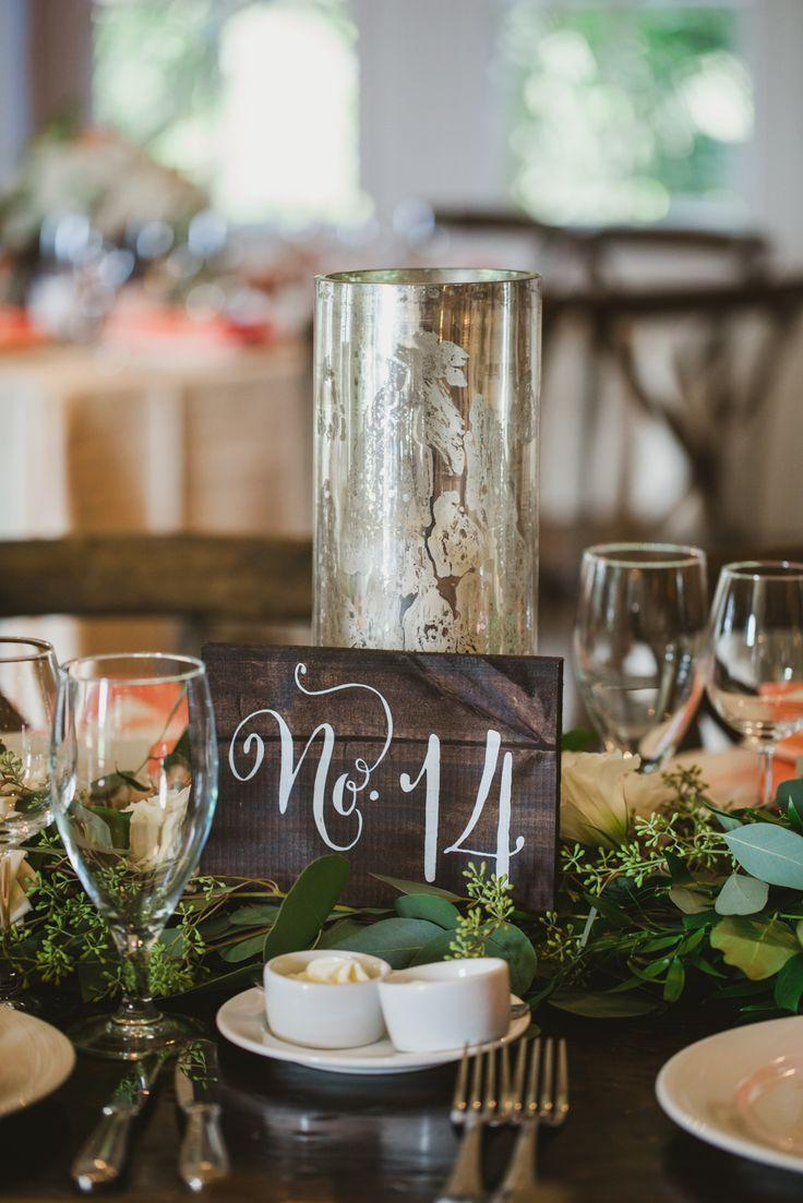 Mariage - Painted Wood Table Number