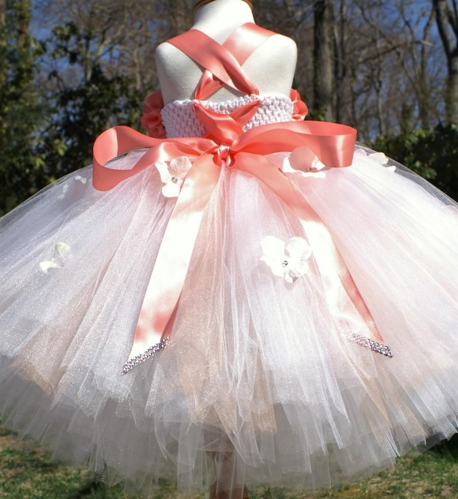 Wedding - Flower Girl Dress, Birthday Tutu Dress, Flower Girl Tutu Dress, Photo Shoot tutu Dress,Special Occasion Tutu Dress, Party Tulle Dress
