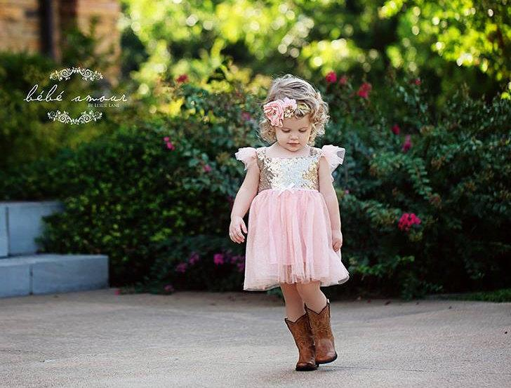 d86b78cf Glitter gold and pink Birthday Outfit..Flower Girl Dress..Tutu Birthday  Outfit.Flower Girl Outfit..Pink and gold birthdays.Flower Girl Dress