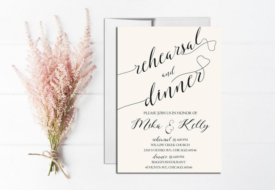 rehearsal dinner invitation printable, rehearsal dinner invitation, Quinceanera invitations