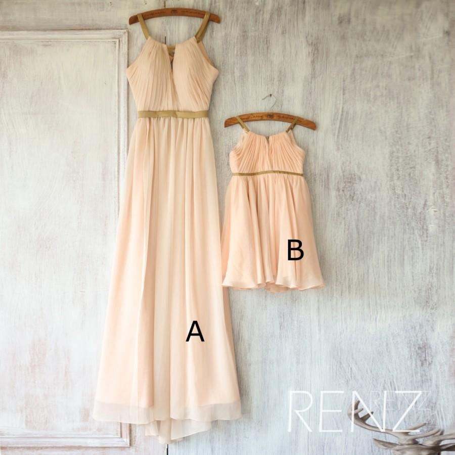 2016 mix and match bridesmaid dress long peach baby