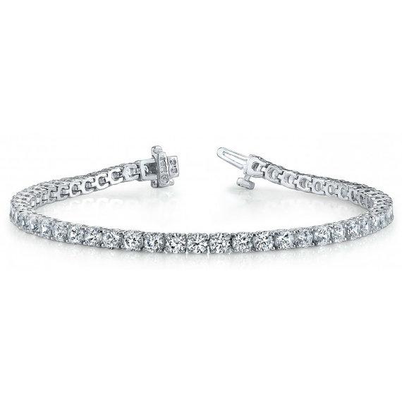 Свадьба - 5.76 Carat F SI2 Diamond Tennis Bracelet - Diamond Bracelet 18k White Gold - Wedding Bracelet For Her - Mother's Day Gifts For Women
