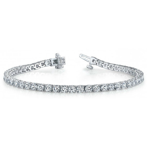 Düğün - 2.31ct F VS1 Diamond Tennis Bracelet - Diamond Bracelet 14k White Gold - Anniversary - Mother's Day Gifts - Bracelets For Women